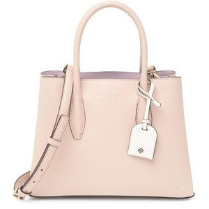 kate spade new york small leather satchel in blush